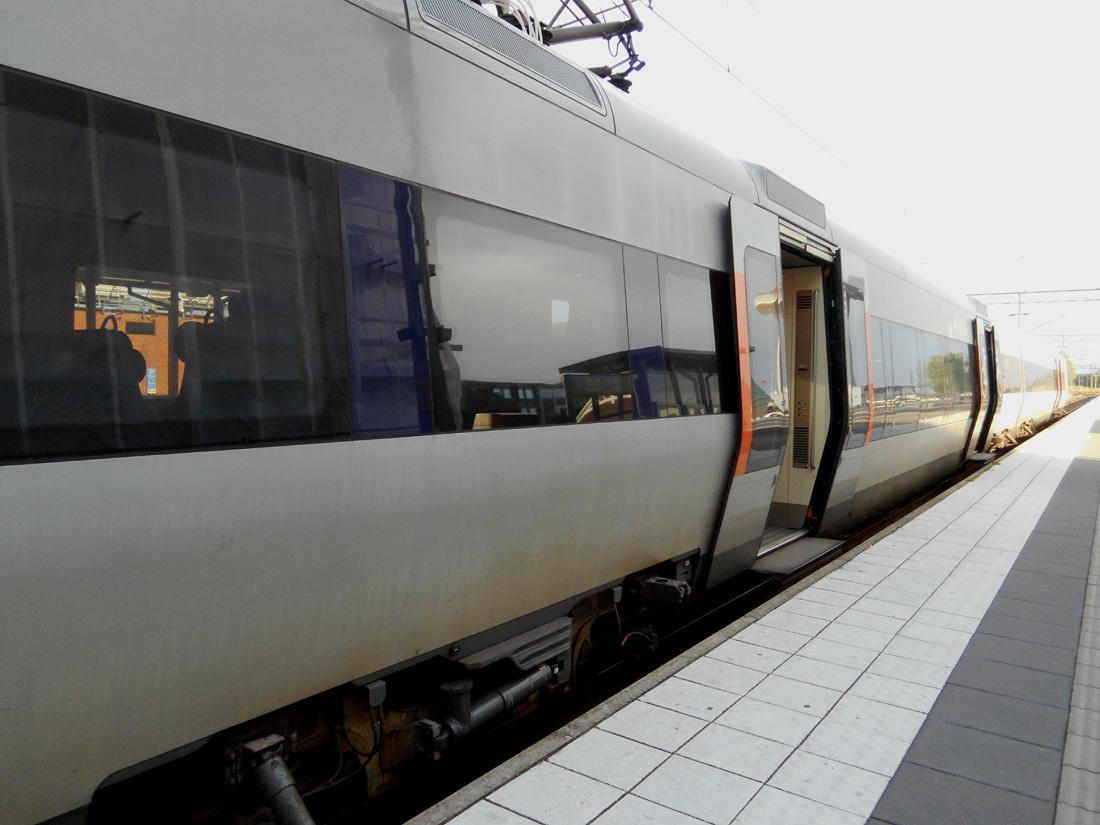 Treno alla stazione di Kristianstad