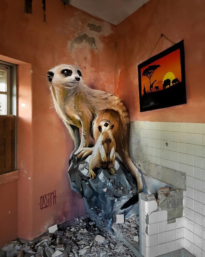 A obra de arte 3D do artista Sérgio Odeith