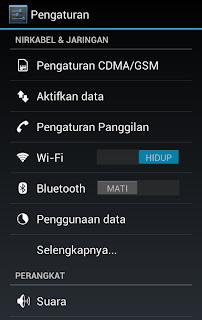 Hp Android Menjadi Hotspot Wifi