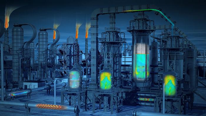 Planta industrial simulada mediante software