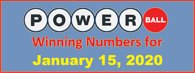 PowerBall Winning Numbers for Wednesday, January 15, 2020