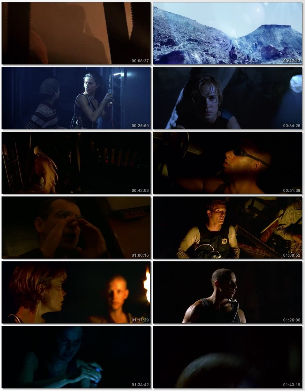 Screen Shot Of Pitch Black 2000 300MB Full Movie Hindi Dubbed Free Download 480P BRRip Small Size PC Movie