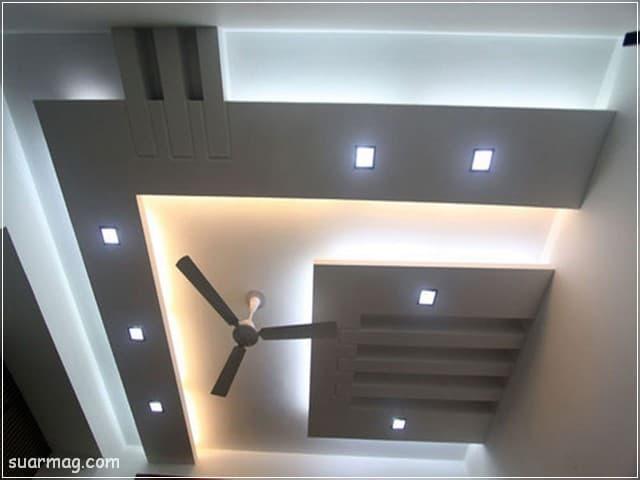 اسقف جبس بورد للصالات مستطيلة 5 | Gypsum Ceiling For Rectangular Halls 5