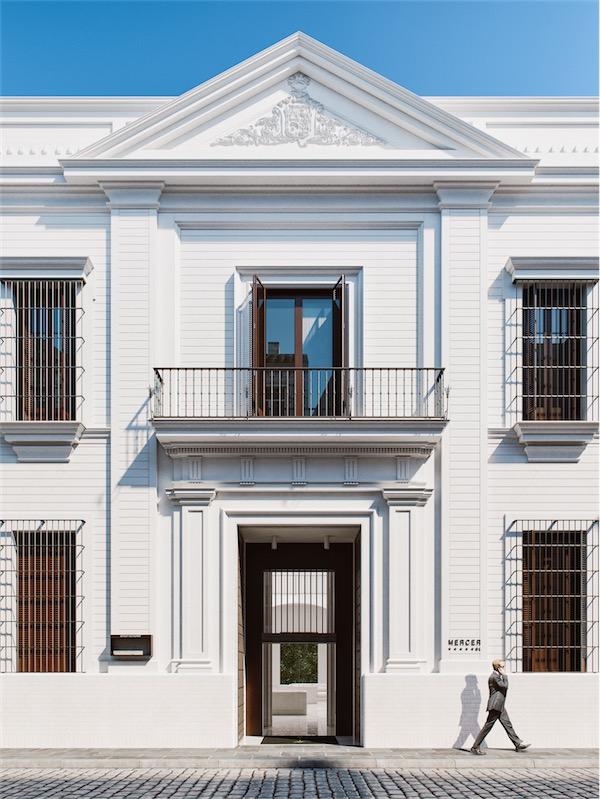 fachada neoclasica hotel mercer sevilla chicanddeco