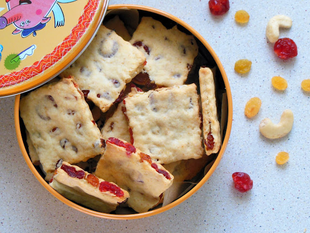 Cookies with dried fruits and nuts