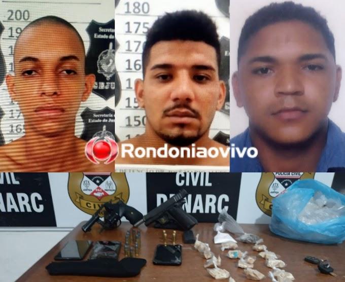 'BOCA FECHADA': Denarc prende traficantes com duas armas e drogas em Porto Velho