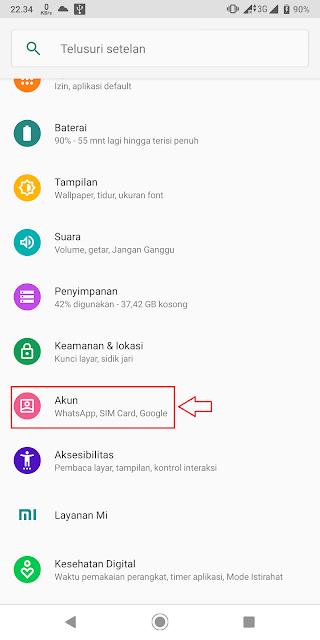 menambahkan akun google android