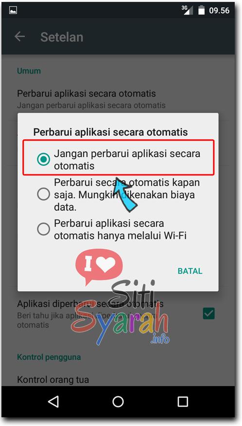 jangan perbarui aplikasi android otomatis