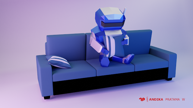 3D Lowpoly Robot