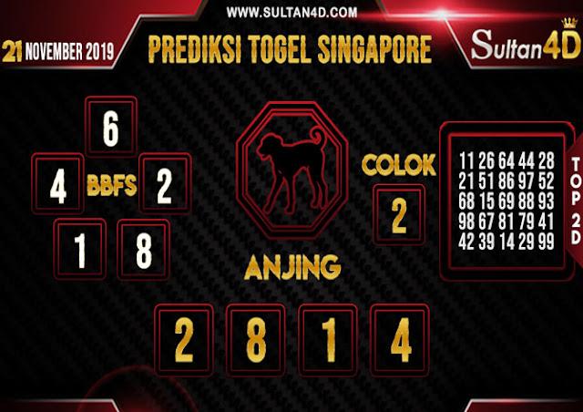 PREDIKSI TOGEL SINGAPORE SULTAN4D 21 NOVEMBER 2019