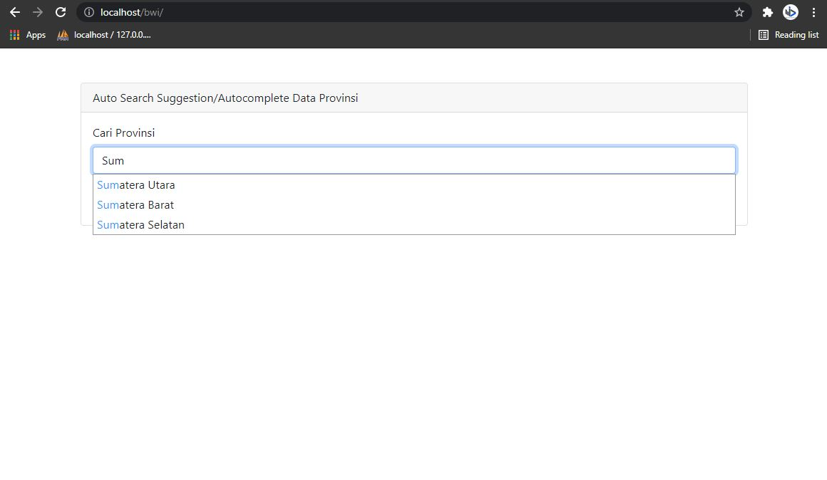 Membuat Auto Search Suggestion/Autocomplete Dengan PHP