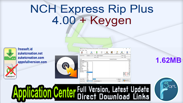 NCH Express Rip Plus 4.00 + Keygen