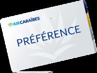 Carte Préférence couleur grise, programme fidélité Air Caraibes