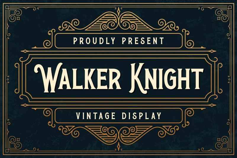 Walker Knight Font - Free Vintage Display Font
