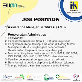 Lowongan Kerja BUMN PT Indah Karya (Persero) Tbk September 2021
