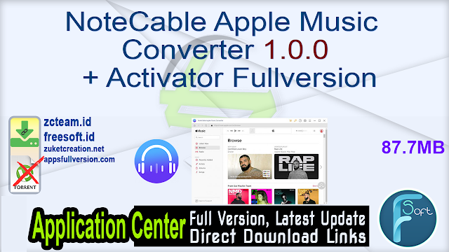NoteCable Apple Music Converter 1.0.0 + Activator Fullversion