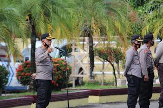 Kapolres Pangkep pimpin apel pengecekan personil pengamanan pendaftaran Bakal Calon Bupati Pangkep