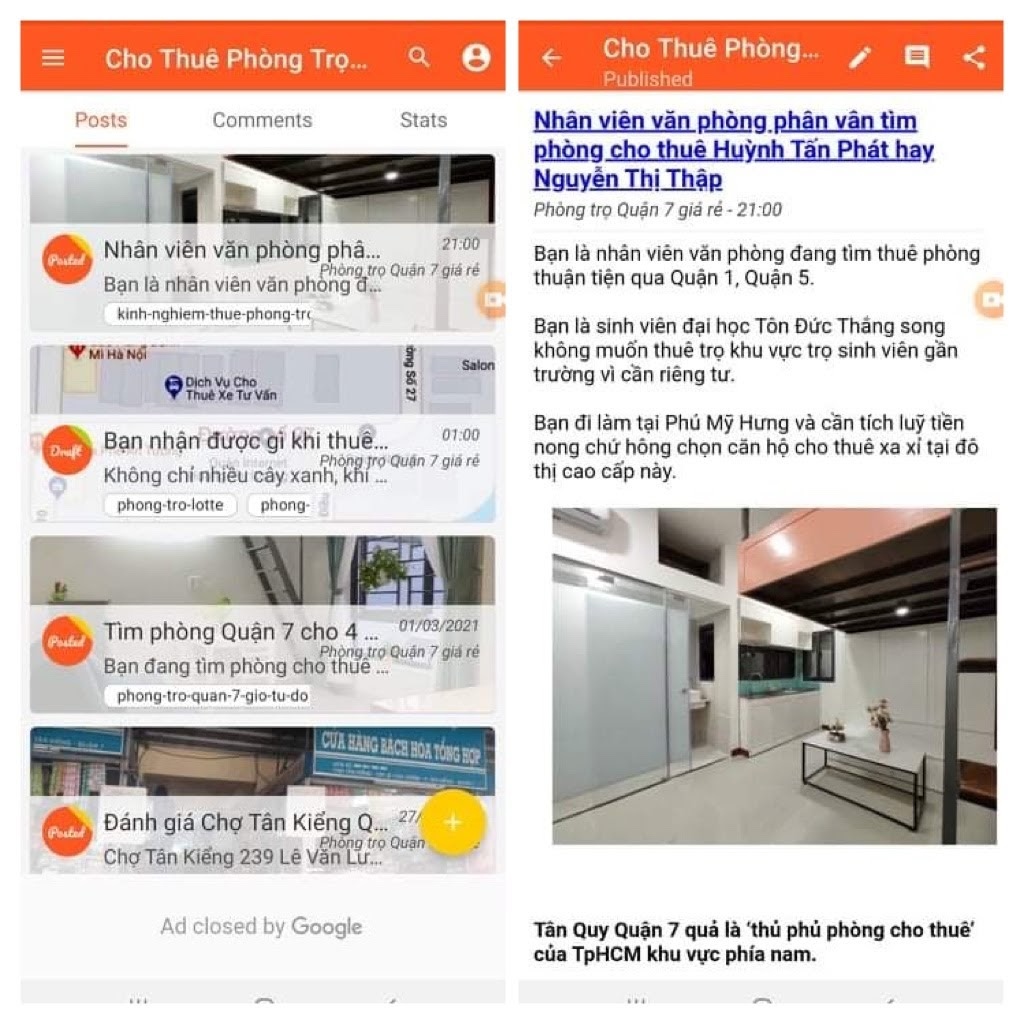 Hỗ trợ nhiều tài khoản Google Blogspot