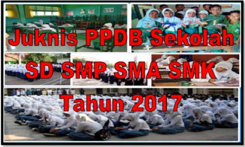 Juknis PPDB Sekolah SD SMP SMA SMK Tahun 2017