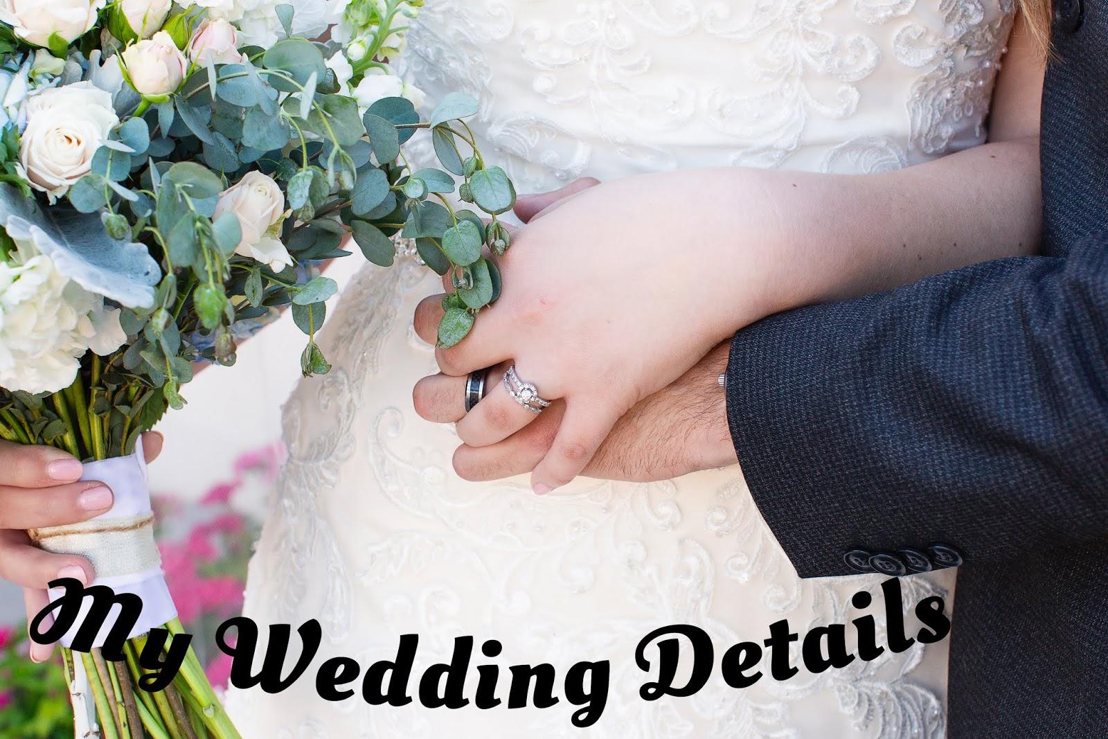 My Wedding Details A Great Big Beautiful Blog