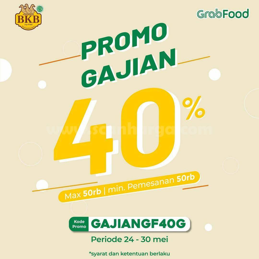 Promo BEBEK BKB Spesial GAJIAN Diskon 40% melalui Grabfood