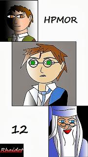 Quirrell y Harry y Dumbledore