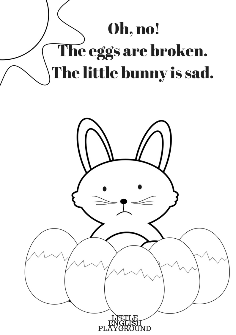easter printables story colouring pages and game little