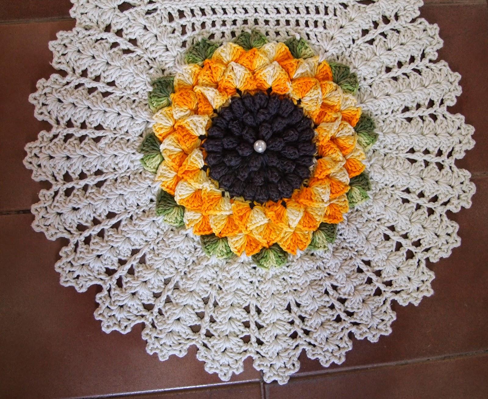 os croches da elsa tapete e jogo de banheiro   flor