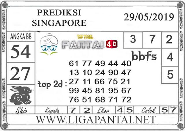 """Prediksi Togel """"SINGAPORE"""" PANTAI4D 29 MEI 2019"""