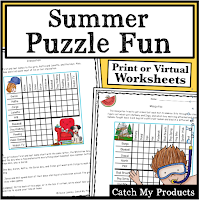 Teach summer logic puzzle fun, word search, and writing prompts that the kids will love! #fun #summerfun #kids #elementarykids #middleschoolkids