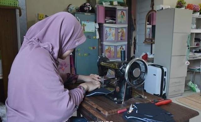 Pemko Padang Panjang Berdayakan UMKM Produksi Masker