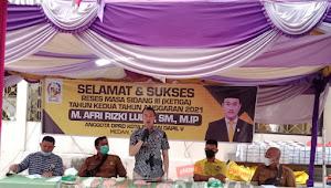 Anggota DPRD Kota Medan M. Afri Rizki Lubis, SM,. M.IP Melaksanakan Reses Masa Sidang III di Kec.Medan Tuntungan