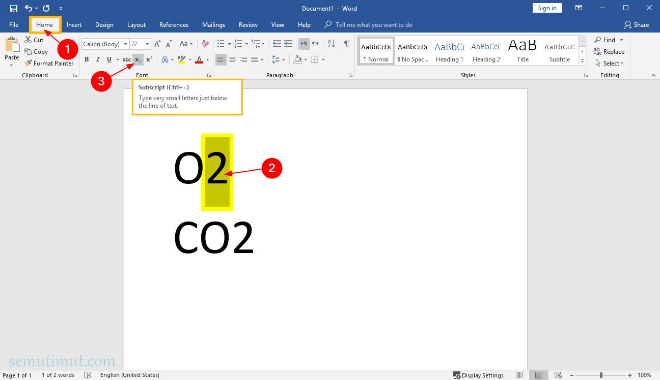 Cara Membuat Pangkat Atas Bawah Di Word M2 X2 Semutimut Tutorial Hp Dan Komputer Terbaik