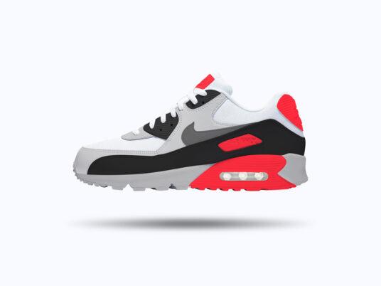 Nike Air Max 90 Sneaker Mockup