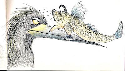 illustration mudskippers encre ink