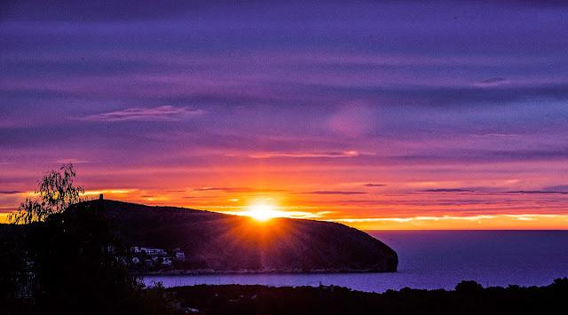 Het ochtendgloren in Moraira
