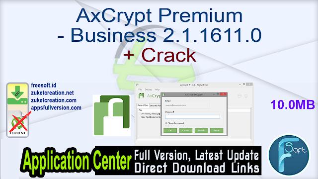AxCrypt Premium – Business 2.1.1611.0 + Crack
