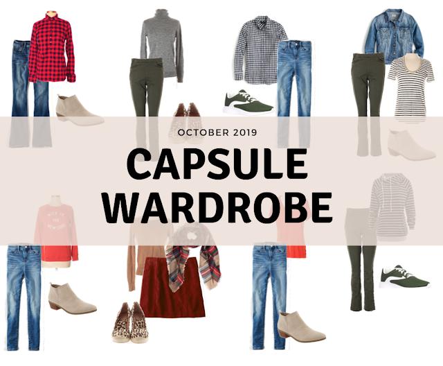 October 2019 Capsule Wardrobe