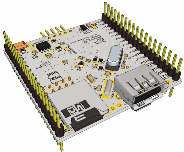 Pratham: Breadboardable PIC32 Breakout/Development Board With USB OTG , USB/SDCard/UART Bootloader 17