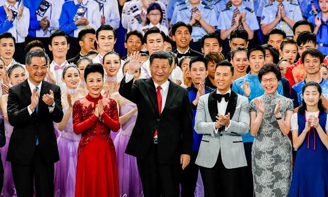 Xi Jinping at 20th anniversary celebrations of Hong Kong's handover