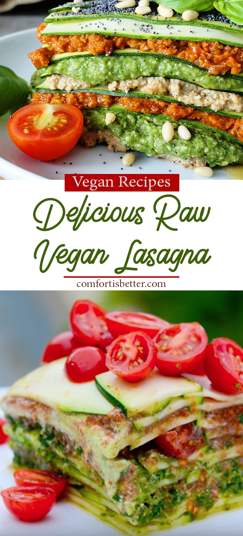 Delicious Raw Vegan Lasagna - with 3 different delicious layers