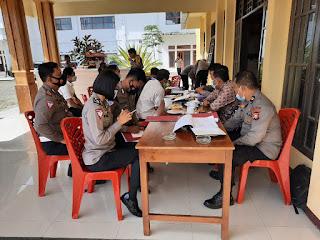 Kapolres Torut Sambu Kedatangan Tim Audit Kinerja Itwasda Polda Sulsel Tahap I T.A. 2021