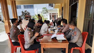Kapolres Torut Sambut Kedatangan Tim Audit Kinerja Itwasda Polda Sulsel Tahap I T.A. 2021
