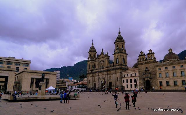 Catedral de Bogotá, na Praça de Bolívar