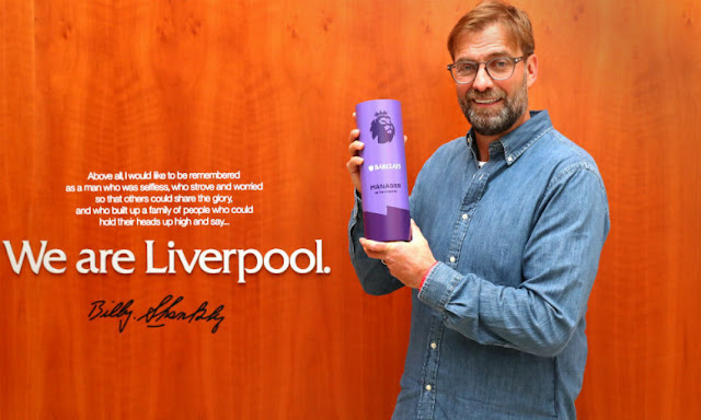 Jurgen Klopp Retains EPL Manager Of The Month Award For December
