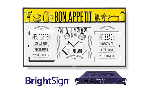 NEC Display Solutions e BrightSign em parceria para disponibilizar solução integrada de digital signage
