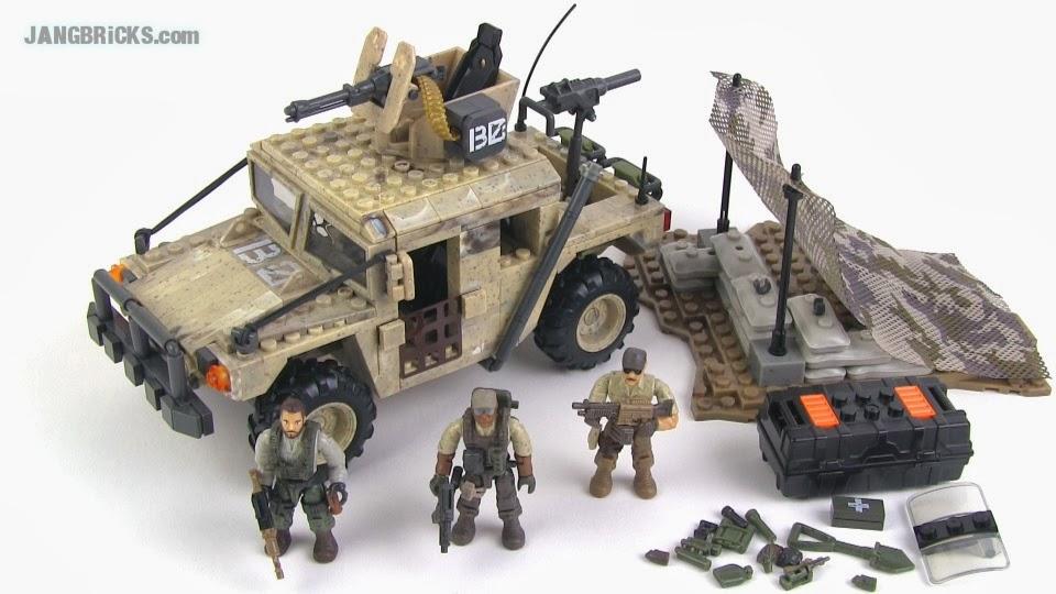 Mega Bloks Call Of Duty Light Firebase Humvee Set Review