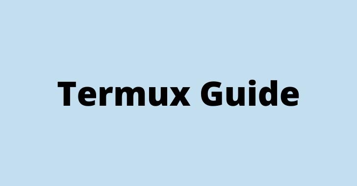 Termux guide