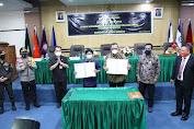 Pjs. Gubernur Agus Fatoni Hadiri Penandatanganan MoU DKPP dan Unima