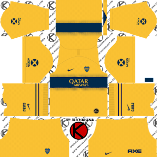 Boca Juniors 2019/2020 Kit - Dream League Soccer Kits